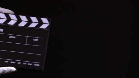 kino : Clapperboard, clapper, 2 clips sequence