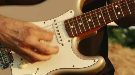 playing band : Electric guitar Stock Footage