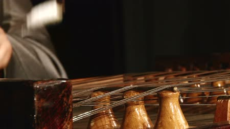 hammered : Cymbal, dulcimer, close up Stock Footage