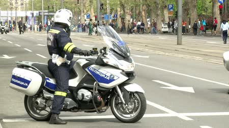 syrena : Policeman on a motorcycle