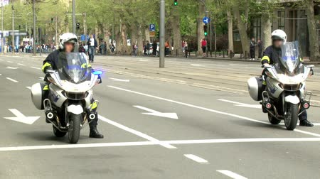 syrena : Police officers on a motorcycles