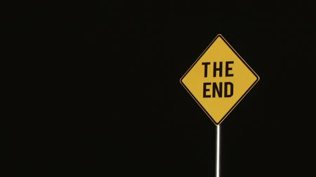 végre : The End - Signs Stock mozgókép