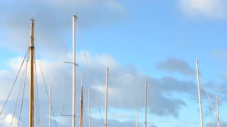 lanoví : ships mast in the harbour of Volda, Norway
