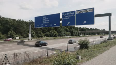 CargoCity south sign, A5, frankfurt airport Wideo