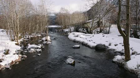 River, winter with snow