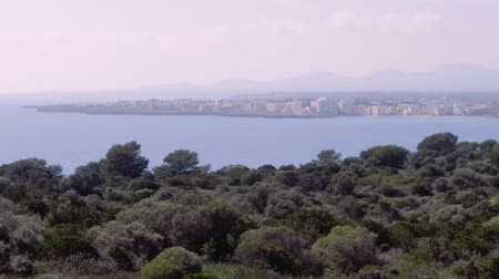 que vale a pena : Sa Coma view from Castell, Majorca Stock Footage