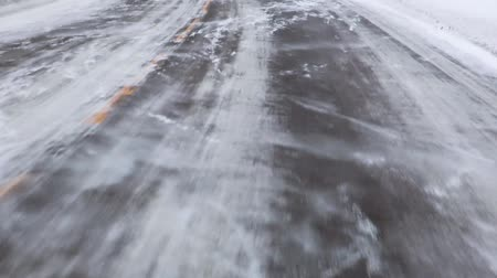 nordic countries : Driving frozen street  road  highway in Norway (winter)