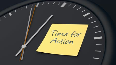 motivasyonel : Time for action Stok Video