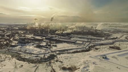 Metallurgical plant. Aerial shot.