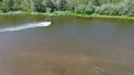 Wakeboarding on the river