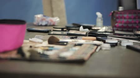 toeletta : Master class for make-up artists. Cosmetics and toiletries. Filmati Stock