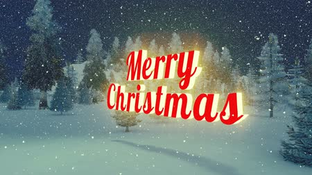 feliz natal : Animated glowing Merry Christmas text. Loopable