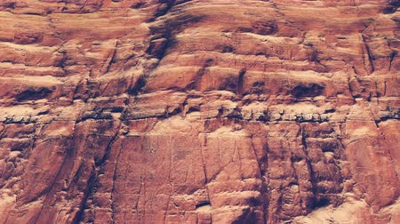 rocks red : Moving up on the red cliff closeup Stock Footage