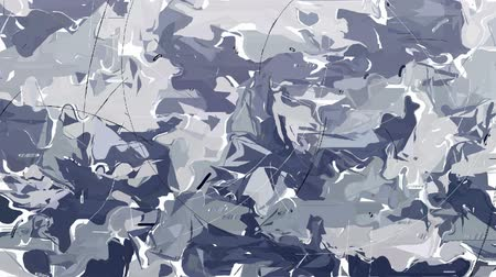 encanecido : Moving camouflage background forms by abstract animated shapes