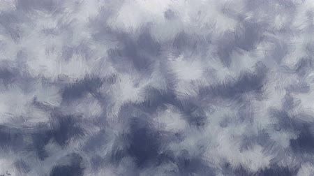 stroke : Abstract artistic moving background forms by animated blurred oil paint brush strokes in cold gray color range