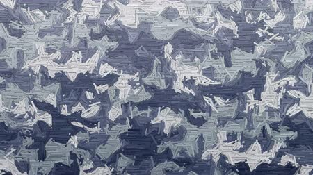 encanecido : Random animated dashes forms abstract moving camouflage background in cold gray and blue colors