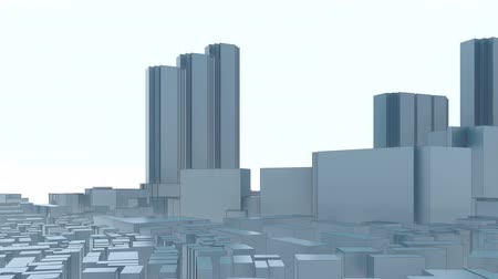 polinésia : Modern Tokyo city skyline in the administrative and commercial district with Shinjuku Park Tower. Abstract architectural 3D animation.