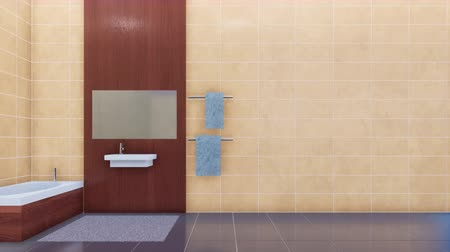 lavatório : Modern bathroom interior and copy space tiled wall