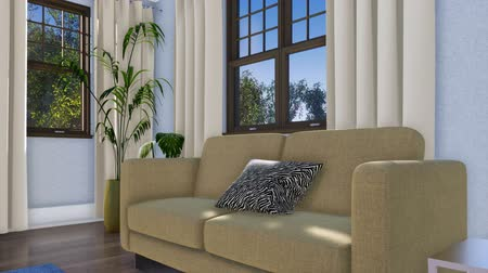 köşeler : Close up of sofa in modern living room interior 3D