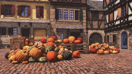 для продажи : Pumpkins at autumn farmers market for Thanksgiving and Halloween holidays