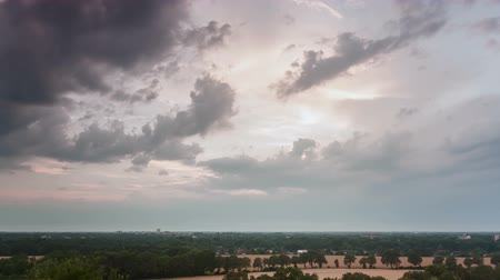 urban birds : Time lapse sequence of clouds after a thunderstorm Stock Footage