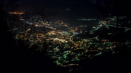 winter place : Time lapse sequence of Merano and uprising moon