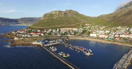 garden route : Aerial view of Kalk Bay harbour Cape Town