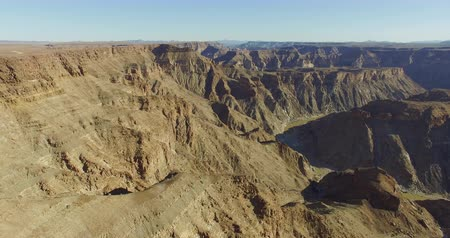 holiday makers : 4K aerial view of Fish River Canyon