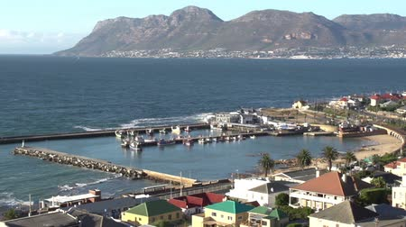 garden route : Panning shot of Kalk Bay harbour, Cape Town,South Africa