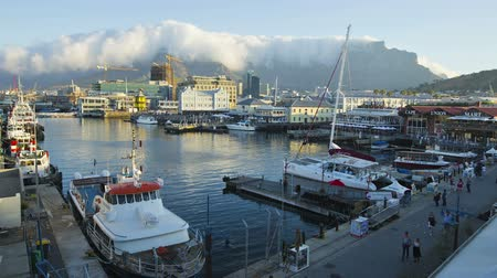 victoria and alfred waterfront : Time-lapse of the Victoria and Alfred Waterfront, Cape Town,South Africa