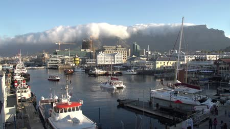 holiday makers : Time-lapse of the Victoria and Alfred Waterfront, Cape Town,South Africa