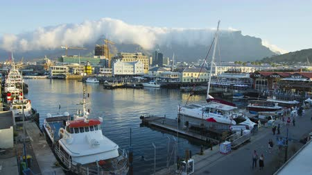 victoria and alfred waterfront : 4K Time-lapse of the Victoria and Alfred Waterfront, Cape Town,South Africa
