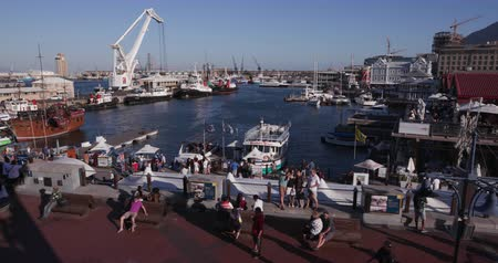 vacation destination : Panoramic view of the famous Victoria and alfred waterfront Cape Town