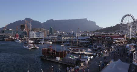 garden route : Panoramic view of the famous Victoria and alfred waterfront Cape Town