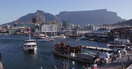 victoria and alfred waterfront : Panoramic view of the famous Victoria and alfred waterfront Cape Town