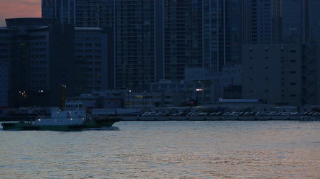 docklands : The ship crosses. Stock Footage
