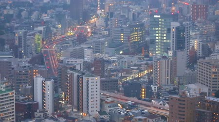 kanto district : Capital Expressway from evening to night