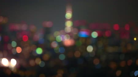 kanto district : Night view of Tokyo (intentional bokeh)