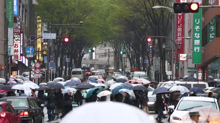 koşuşturma : The intersection of Shibuya in the rain
