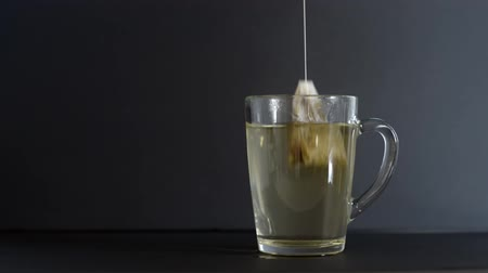 teabag : Making tea with tea bag in cup