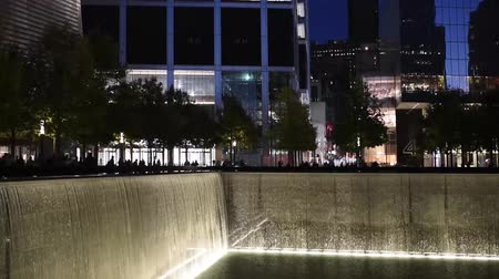 milestone : NEW YORK, USA - OCTOBER 20, 2018: Reflecting Pool at New Yorks 911 Memorial at Ground Zero
