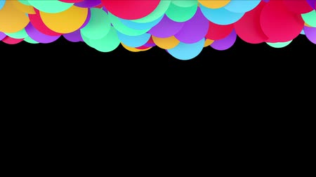 dekking : Animation of colored balls on a black background