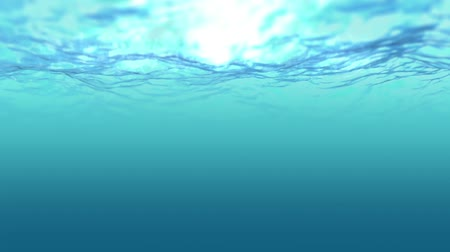 submerge : Ocean emerald wave sight under water Stock Footage