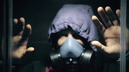 post room : A man in a gas mask out of hiding after a chemical explosion HD 1920x1080
