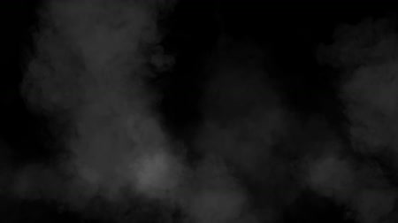тощий : The movement of white clouds against a black background of the smoke machine HD 1920x1080