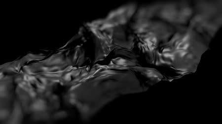 sedoso : Black silk in motion waves on black background HD 1920 Vídeos