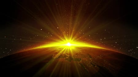 топография : Animation sunrise view from space HD 1920x1080