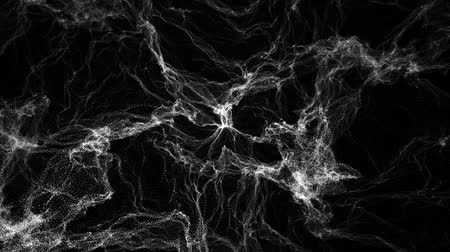 csatlakozott : The undulating motion of microparticles in space are joined together on a black background