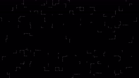 keringés : The motion animation of the maze in white on a black background 4k