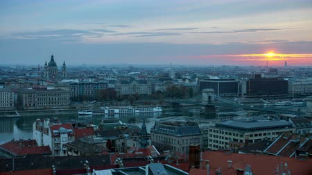 budapeste : Time-lapse of Budapest at sunset, Czech Republic
